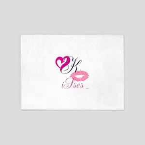 OYOOS Kisses Heart design 5'x7'Area Rug