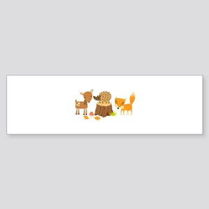 Woodland Animals Bumper Sticker