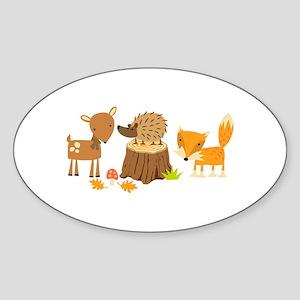 Woodland Animals Sticker