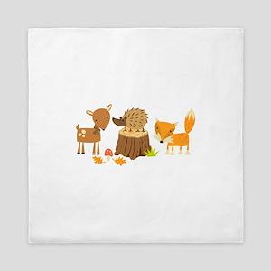Woodland Animals Queen Duvet