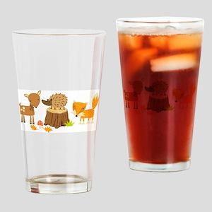 Woodland Animals Drinking Glass
