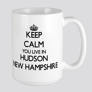 Keep calm you live in Hudson New Hampshire Mugs