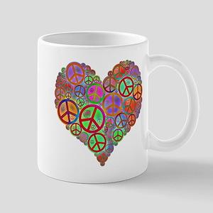 Peace Sign Heart Mug