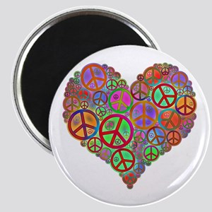 Peace Sign Heart Magnet