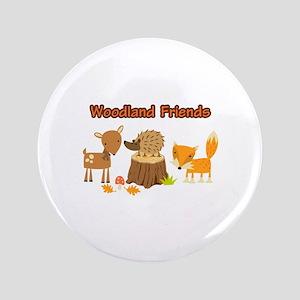 "Woodland Friends 3.5"" Button"