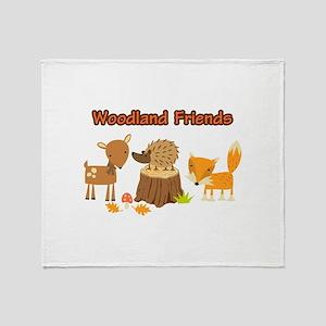 Woodland Friends Throw Blanket