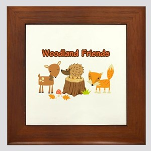 Woodland Friends Framed Tile