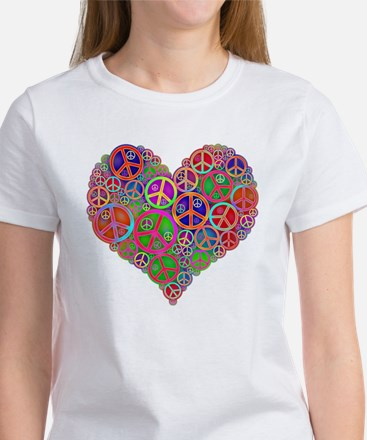 Peace Sign Heart Women's T-Shirt