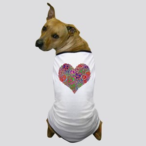 Peace Sign Heart Dog T-Shirt