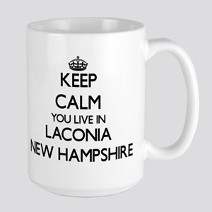 Keep calm you live in Laconia New Hampshire Mugs
