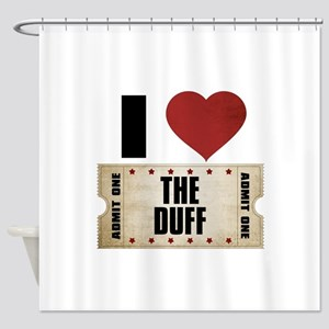 I Heart The Duff Ticket Shower Curtain