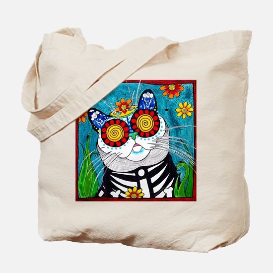 Funny Day of the dead purses Tote Bag
