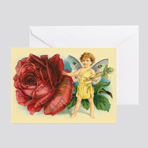 Victorian birthday greeting cards cafepress victorian fairy and rose birthday greeting card m4hsunfo