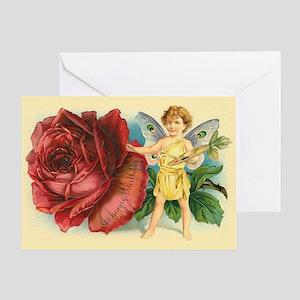 Victorian birthday greeting cards cafepress victorian fairy and rose birthday greeting card m4hsunfo