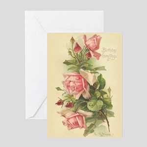 Victorian birthday greeting cards cafepress victorian rose birthday greeting card m4hsunfo