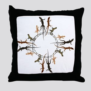 Lizard Zia Symbol Throw Pillow