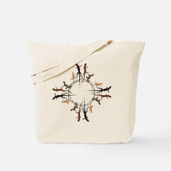 Lizard Zia Symbol Tote Bag