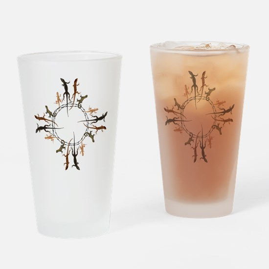 Lizard Zia Symbol Drinking Glass