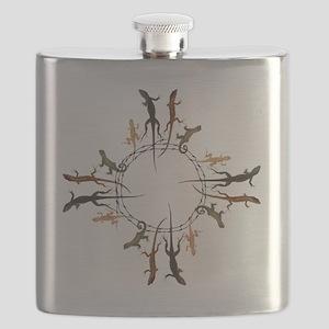 Lizard Zia Symbol Flask