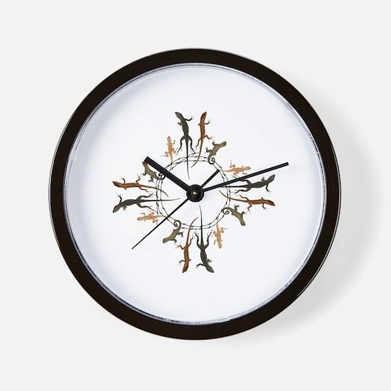 Lizard Zia Symbol Wall Clock