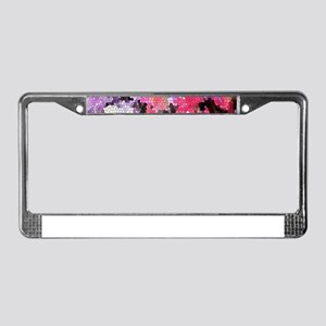 Sweet peas color stained glass License Plate Frame