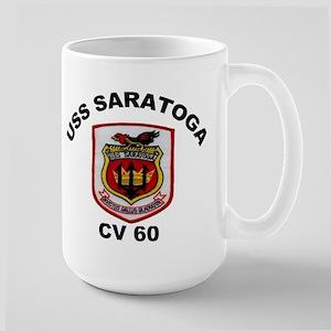 USS Saratoga CV-60 Large Mug