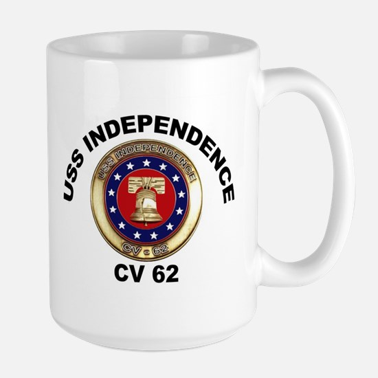 USS Independence CV-62 Large Mug
