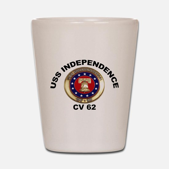 USS Independence CV-62 Shot Glass