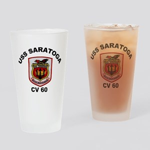 USS Saratoga CV-60 Drinking Glass