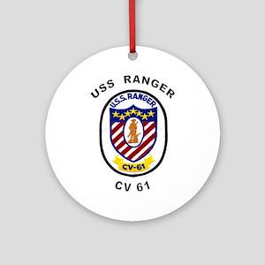 CV-61 Ranger Ornament (Round)