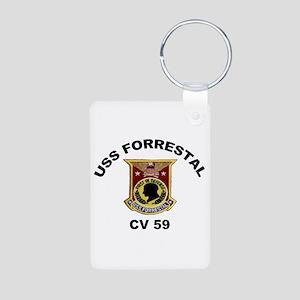 CV-59 Forrestal Aluminum Photo Keychain