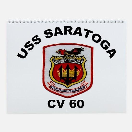 USS Saratoga CV-60 Wall Calendar