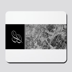 Marble and Monogram Mousepad