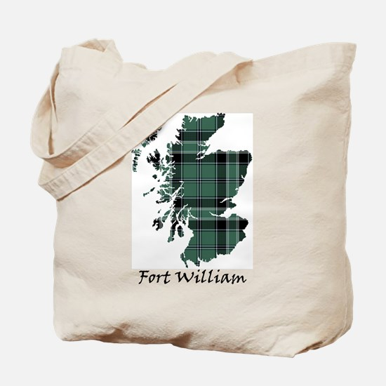 Map - Fort William dist. Tote Bag