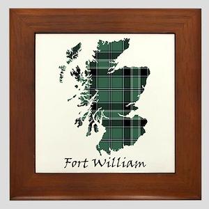 Map - Fort William dist. Framed Tile