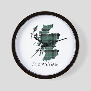Map - Fort William dist. Wall Clock