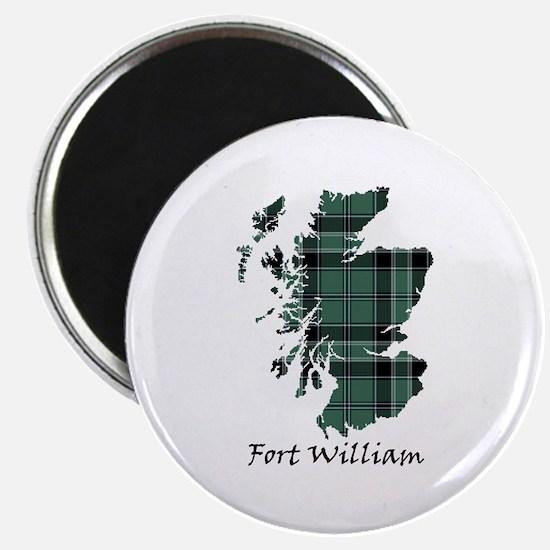"Map - Fort William dist. 2.25"" Magnet (10 pack)"