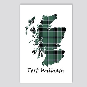 Map - Fort William dist. Postcards (Package of 8)
