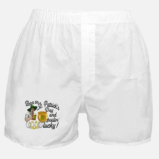 Born on St. Patricks Day Boxer Shorts