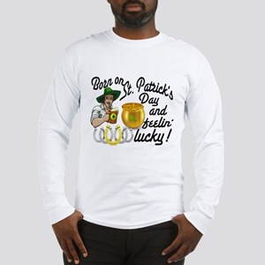 St. Patrick's Day Cowboy Long Sleeve T-Shirt