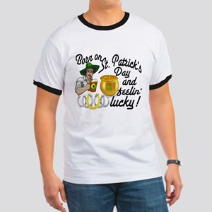 St. Patrick's Day Cowboy Ringer T