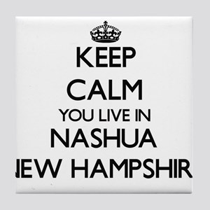Keep calm you live in Nashua New Hamp Tile Coaster