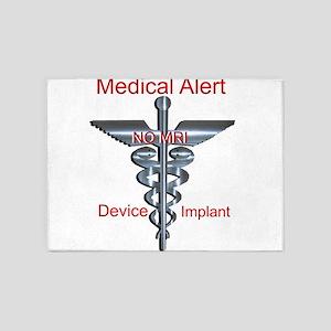 Medical Alert Device Implant NO MR 5'x7'Area Rug
