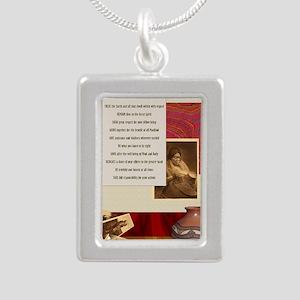 American Commandments Silver Portrait Necklace