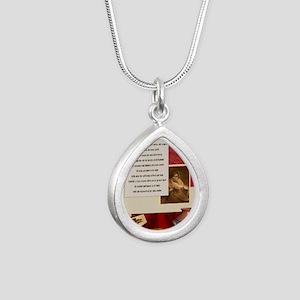 American Commandments Silver Teardrop Necklace