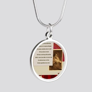 American Commandments Silver Round Necklace