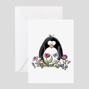 Garden penguin Greeting Card