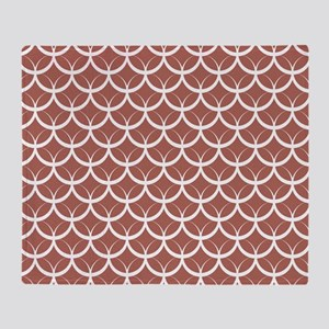 Dusty Rose Circle Pattern Throw Blanket