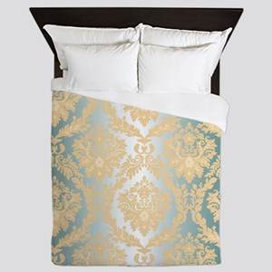 Elegant Damask Design Queen Duvet