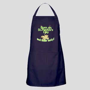 St. Patrick's Day Birthday Charm Apron (dark)